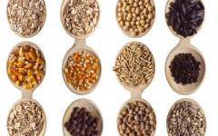 různé druhy obilovin jako nejdůležitější prebiotikum